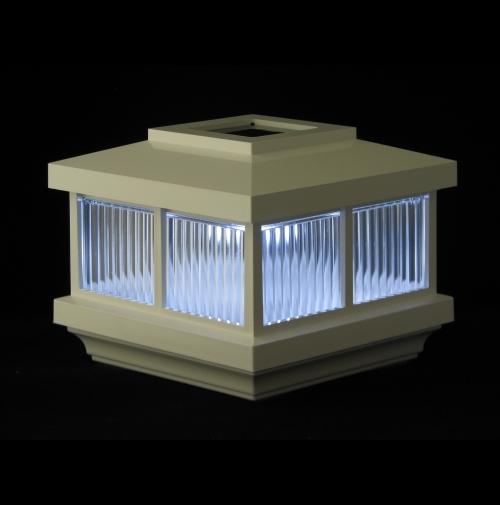 vinyl mart direct accent post lights for vinyl fence. Black Bedroom Furniture Sets. Home Design Ideas