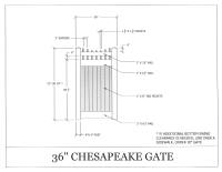 "Chesapeake 36"" x 72"" Gate"