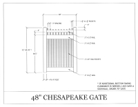 "Chesapeake 48"" x 72"" Gate"