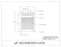 "Richmond 48"" x 72"" Gate"