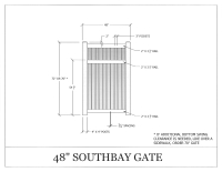"South Bay 48"" x 72"" Gate"